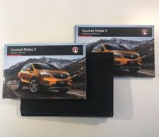 VAUXHALL MOKKA X OWNERS PACK / HANDBOOK COMPLETE WITH WALLET 2014~2018  (2016)