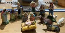 Miniature Nativity Set 13 Pieces Cribset Made In Italy Christmas Birth Of Jesus