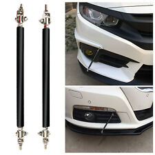 2 x Black Adjustable Front Bumper Lip Splitter Strut Brace Rod Support Bars US