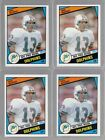 LOT OF (4) DAN MARINO 1984 84 TOPPS ROOKIE CARD LOT #123 DOLPHINS