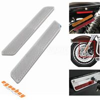 2pcs Motorcycle Front Fork Reflector Lower Legs Slider For Harley V-Rod Softail