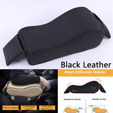 Car Armrest Pad Center Console Box Leather Cushion Armrest Cover Universal Black