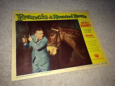 FRANCIS IN THE HAUNTED HOUSE Lobby Card Poster 1956 Talking Mule Comedy Horror