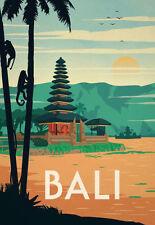 "Vintage Travel Poster Bali Beach Photo Fridge Magnet 2""x3"" Collectibles"