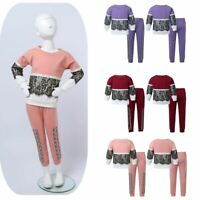 Girls Long Sleeves Outfit Sweatshirts Tops Letters Printed Pants Casual Wear Set