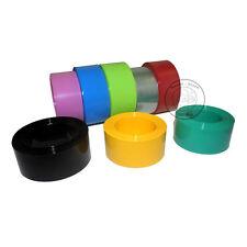 50mm~99mm PVC Heat Shrink Tubing Wrap (Black/Blue/Red/Green/Clear/Yellow/Orange)