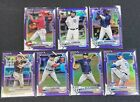 2021+Bowman+Chrome+INVESTOR+LOT+of+7+-++ALL+PURPLE+REFRACTOR+%2F250