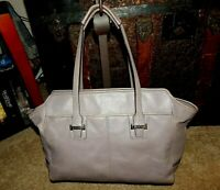 Coach Handbag Purse F25205 Taylor Alexis Taupe Stone Leather Bag Carryall Tote