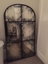 Antique Arched Victorian Mirror With Antique Glass