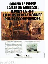 PUBLICITE ADVERTISING 1016  1980   Technics hi-fi  tuner stéreo ampli ST CU C03