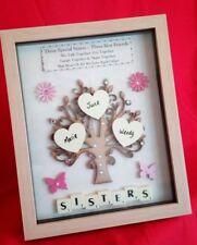 SISTER PERSONALISED BIRTHDAY GIFT FRAME PICTURE TREE KEEPSAKE SISTERS HEARTS