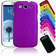 MATTE RUBBERIZED COATED PLASTIC SNAP-ON CASE COVER FOR SAMSUNG GALAXY S3 III LTE