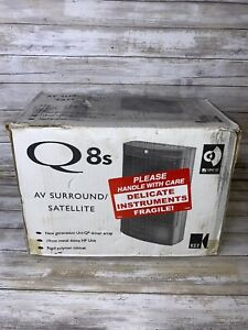 NEW Kef Q8s AV Surround Sound Satellite Speakers Open Box SP3364AA Q Series