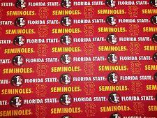 "FLORIDA STATE ( FSU ) "" SEMNOLES ""  NEW TWILL DESIGN 65% POLY35% COTTON 1 YARD"