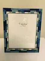 NEW Natalini Blue Hand Made in Italy Marquetry Lacquer Photo Picture Frame 8x10