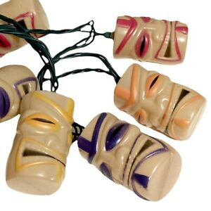 """Multi Colored Blow Mold Style Patio Party Tiki String Lights 7.5"""""""