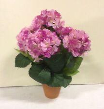 "New Design Hydrangea Bush Potted Artificial Pot Plant 'Pink' 15"""