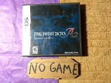Final Fantasy Tactics A2 Nintendo DS - Case, Inserts, No Game, No Manual