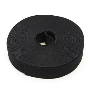 30FT REUSABLE 1 Inch Roll Hook & Loop Cable Fastening Tape Cord Wraps Straps