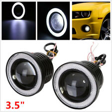"3.5"" 8.9cm LED Car Fog Light White Angel Eyes Standlichtringe Driving Head Lamp"