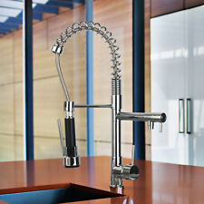 US Kitchen Sink Basin Swivel & Pull Down Spray Mixer Faucet Chrome Deck Mounted