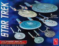AMT 1:2500 Star Trek USS Enterprise Snap Box Model Set AMT954