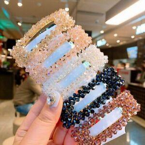 Fashion Women Pearl Barrette Crystal Hair Clip Stick Hairpin Hair Accessory Gift
