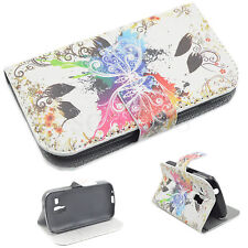 Stand Wallet Leather Flip Cover Case For Samsung Galaxy S Duos S7562 S7560