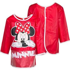 KIDS APRON CHILDRENS GIRLS OFFICIAL DISNEY MINNIE MOUSE PVC PAINTING COOKING