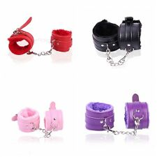 SEXY FURRY FUZZY #B LADIES HANDCUFFS ADULT FUN HEN PARTY METAL WRIST