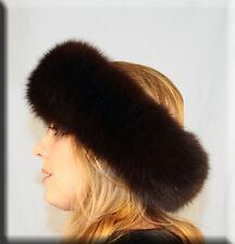 New Chocolate Brown Fox Fur Headband - Efurs4less