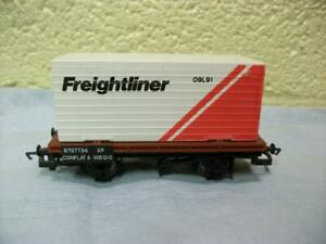 BR Conflat Wagon B727734 & Container 'Freightliner' Hornby No R.017 '00'