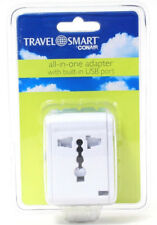 Conair Travel Smart All In One Adapter USB Port U.K. Europe USA Australia
