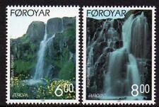 Faroe Islands Mnh 1999 Sg379-80 Europa-Waterfalls