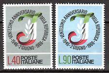 Italy - 1966 20 years republic - Mi. 1211-12 MNH