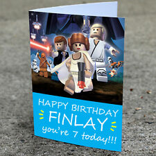 STAR WARS LEGO Personalised Birthday Card | Grandson Brother Nepheh Boys Cousin