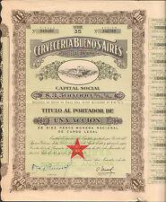 titre 1 action: CERVECERIA BUENOS AIRES (ARGENTINE) (R)