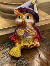 New Listingchristopher radko halloween ornament Owl Witch Winger