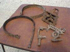 Vintage Rat Rod Allen Ford Automobile Gas Tank Straps Shifter Car Parts Lot 3
