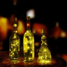 Solar Wine Bottle Cork Shaped String Lights 8/10LED Night Fairy Light Cool White
