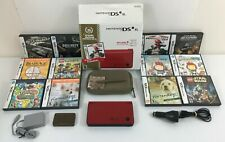 Nintendo DSi XL 25th Anniversary Limited Edition Lot 13 Games Box AC & DC Adapte