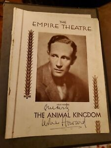 LESLIE HOWARD ANIMAL KINGDOM NY  GONE WITH THE WIND ACTOR VINTAGE AUTOGRAPH 1932