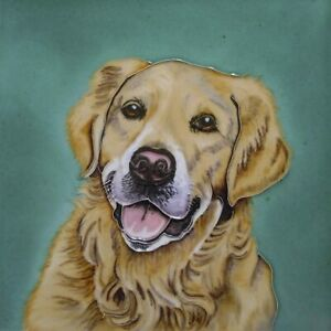Golden Retriever by Christine Varley 8 x 8 Decorative Ceramic Picture Art Tile