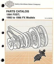 1984 to 1986 HARLEY-DAVIDSON FX & FXST PARTS CATALOG MANUAL -NEW-FXWG-FXEF-FXSB-