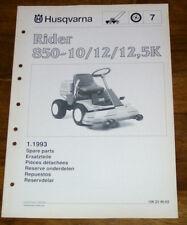 Husqvarna Rider 970 Rasentraktor Ersatzteil-Bildkatalog Ersatzteilliste Parts 98