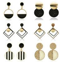 New Women Statement Boho Geometric Big Pendant Ear Stud Dangle Drop Earrings