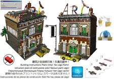 Lego Art Gallery Shop Instructions Modular Custom Building Design City Town