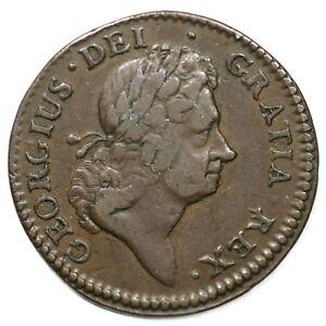 1723 4.16-Gc.3 R-2 Wood's Hibernia Colonial Copper Coin 1/2p