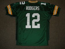 Aaron Rodgers Green Bay Packers Green Authentic Jersey by Reebok sz 52 New Mens