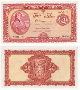 IRELAND Lady Lavery Central Bank £20 Banknote (1976) - EF.